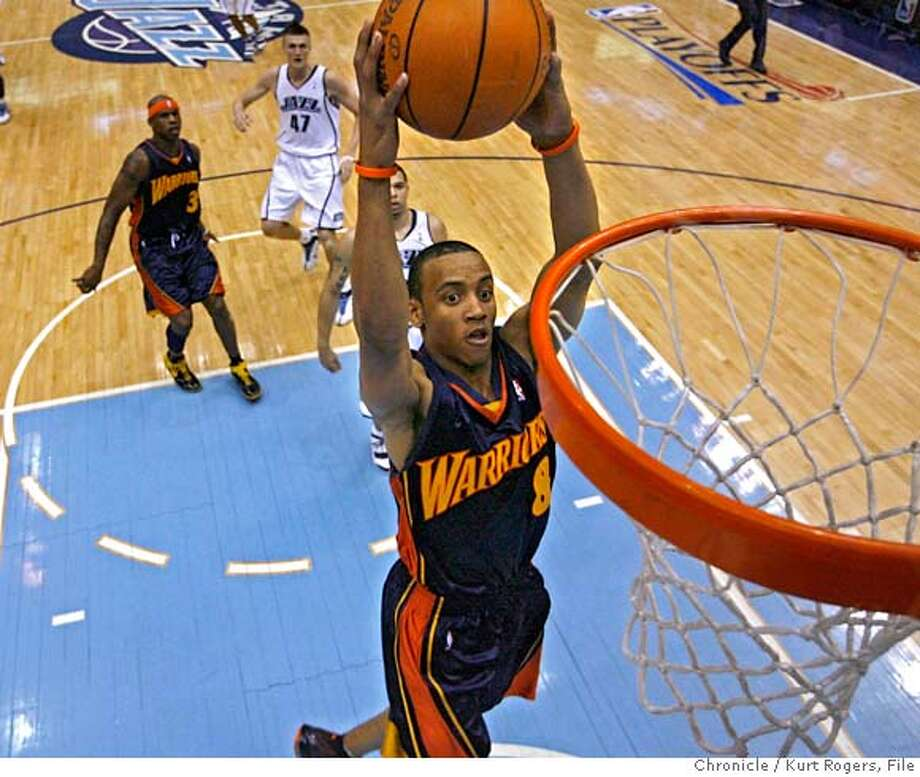 2007 NBA PLAYOFFFS-Western Conference Golden State Warriors' Monta Ellis up for two in the first half of play.  Semifinals UTAH JAZZ vs GOLDEN STATE WARRIORS Series Game #5 EnergySolutions Arena .  TUESDAY, MAY 15, 2007 KURT ROGERS SALT LAKE CITY SFC  KURT ROGERS/THE CHRONICLE _O1N0242.JPG  Ran on: 06-24-2007  Don Nelson  Ran on: 06-24-2007  Don Nelson Photo: KURT ROGERS