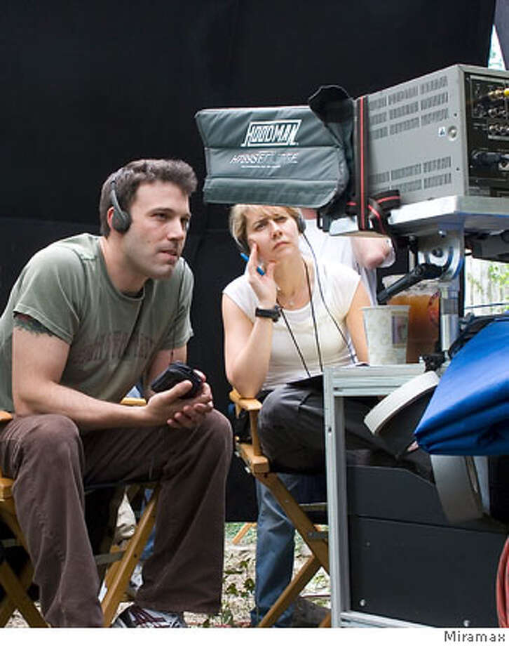 "Ben Afflect directs ""Gone Baby Gone"" Miramax 2007  Ran on: 10-07-2007  Ben Affleck behind the camera on the set of &quo;Gone Baby Gone,&quo; his feature directorial debut.  Ran on: 10-07-2007 Photo: Unknown"