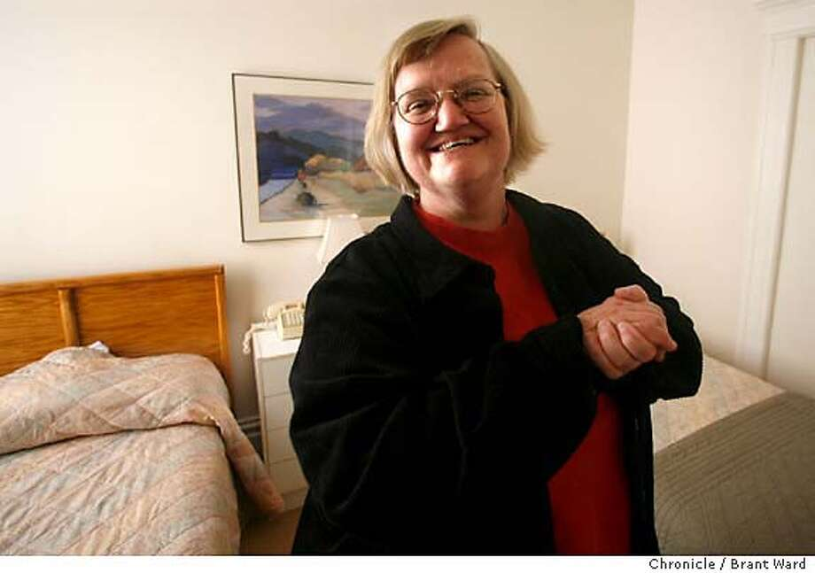 ja_hall064_ward.jpg  Ruth Hall won a Jefferson award for starting Family Link in response to the AIDS epidemic. She stands in one of the bedrooms made available to strangers to San Francisco visiting loved ones that are seriously ill.  Brant Ward4/14/06 Photo: Brant Ward