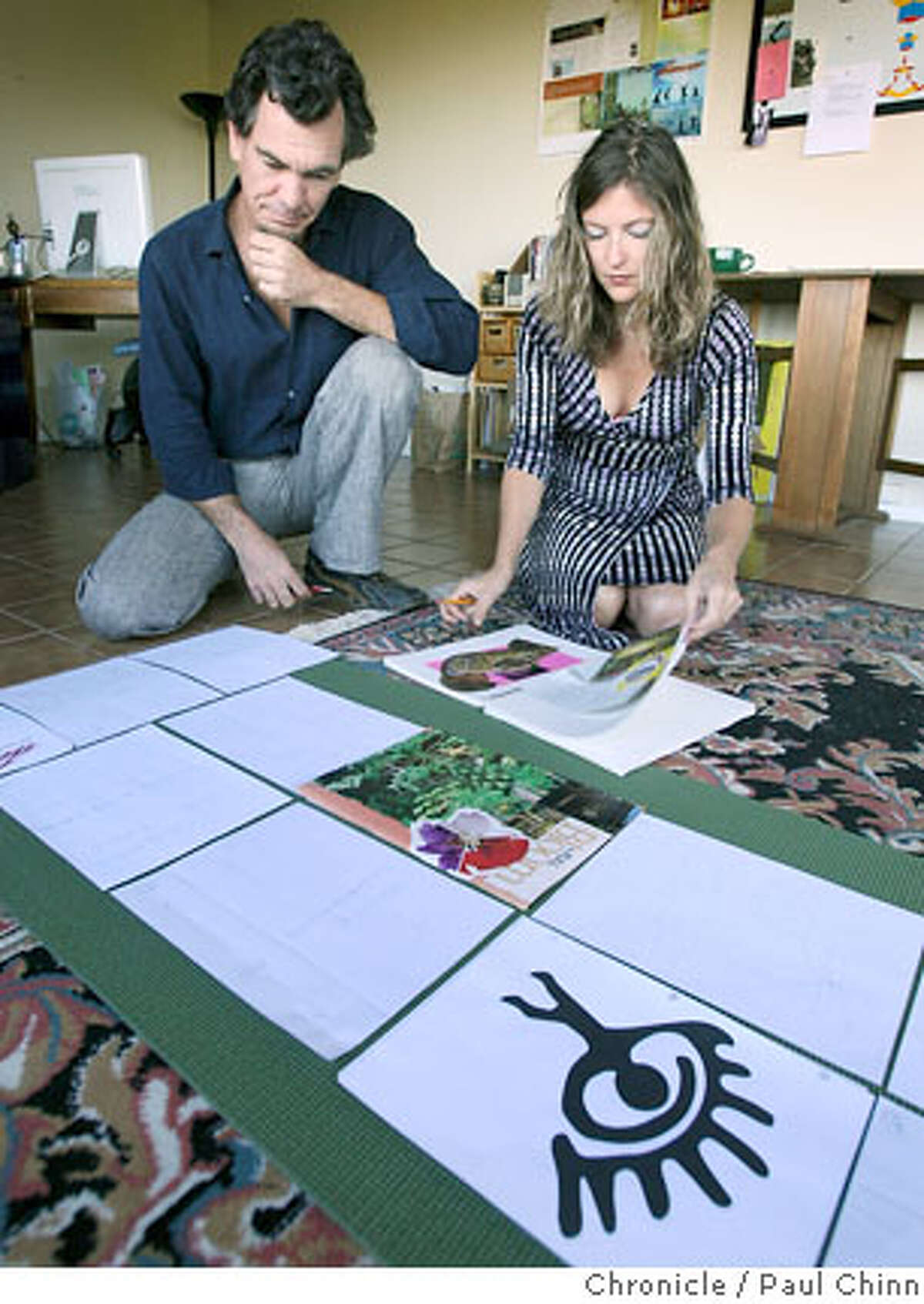 Editor Mark Metz and creative director Aspen Madrone work on the layout for the second edition of their magazine