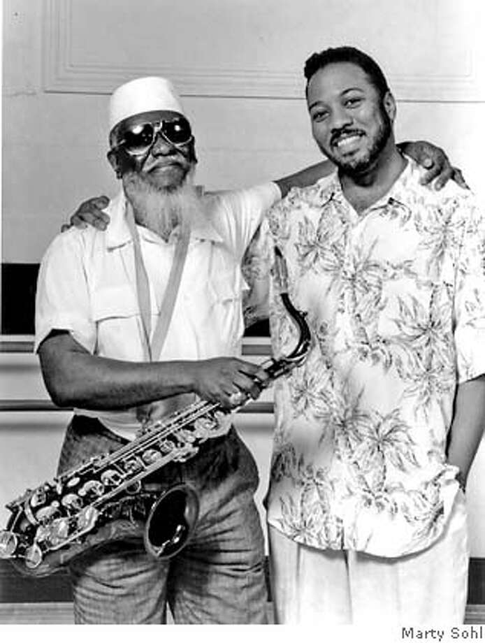 Pharoah Sanders (left) with Alonzo King of LINES Contemporary Ballet, 1994  Photo by Marty Sohl Photo: Marty Sohl