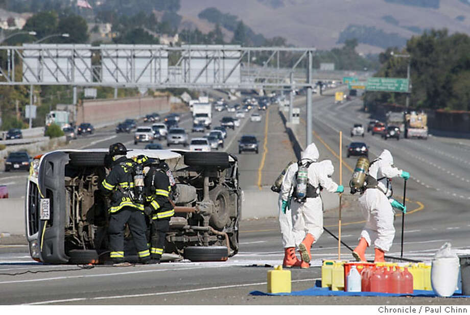 I-680-580 interchange reopens after chemical spill - SFGate