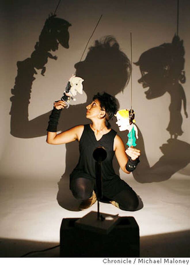 Puppeteer Janaki Ranpura works with her shadow puppets.  Janaki Ranpura is a puppeteer who will be performing in an upcoming radical puppet event in San Francisco, called PuppetLOVE!  Photo by Michael Maloney / San Francisco Chronicle  ***Janaki Ranpura Photo: Michael Maloney