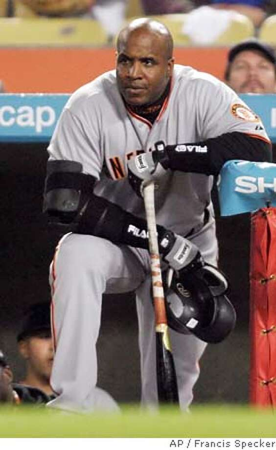 BARRY BONDS Photo: FRANCIS SPECKER