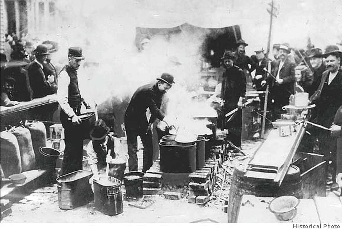 Fear of blazes after the 1906 earthquake made it illegal for anyone to start any kind of fire indoors. Historical Photo