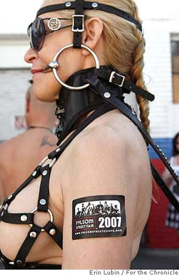 Ann Noble of Los Angeles, dresses like a pony for the Folsom Street Fair in San Francisco, CA Sunday, September 30, 2007. Event on 9/30/07 in San Francisco.  Erin Lubin / For the Chronicle Photo: Erin Lubin