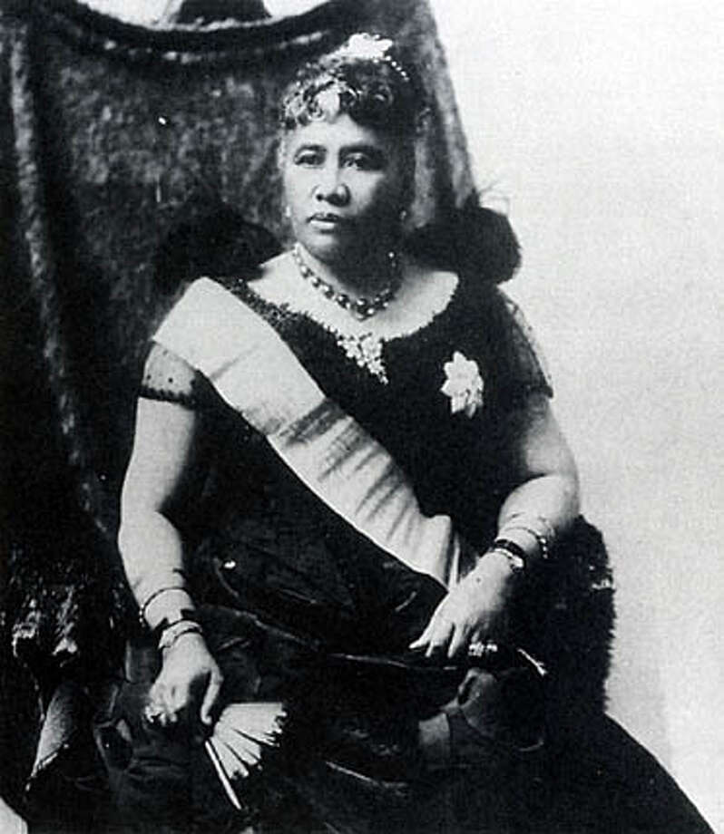 "Queen Liliuokalani of Hawaii was the first foreign leader to be overthrown with the collaboration of American officials. She was deposed in 1893. Photo from ""Overthrow"""