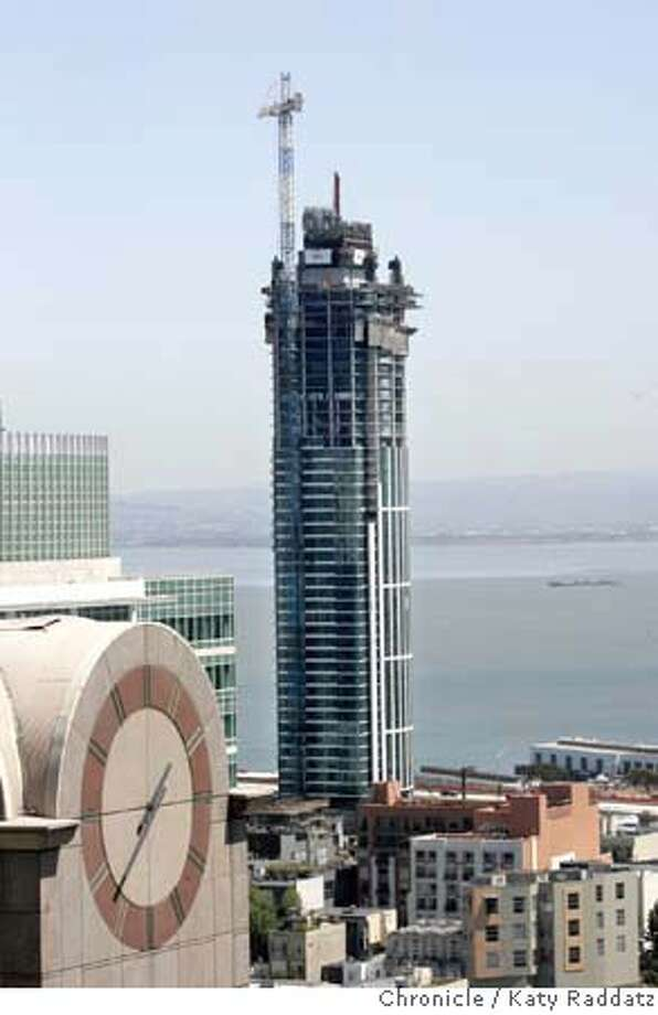 RINCON_001_RAD.jpg SHOWN: One Rincon Hill building. We do a series of stories on the progression of the construction of this building. This is a view of the building from the 24th floor of #1 Post St. These pictures were made in San Francisco, CA. on Monday, April 23, 2007.  (Katy Raddatz/The Chronicle)  **Rincon Mandatory credit for the photographer and the San Francisco Chronicle. No sales; mags out. Photo: Katy Raddatz