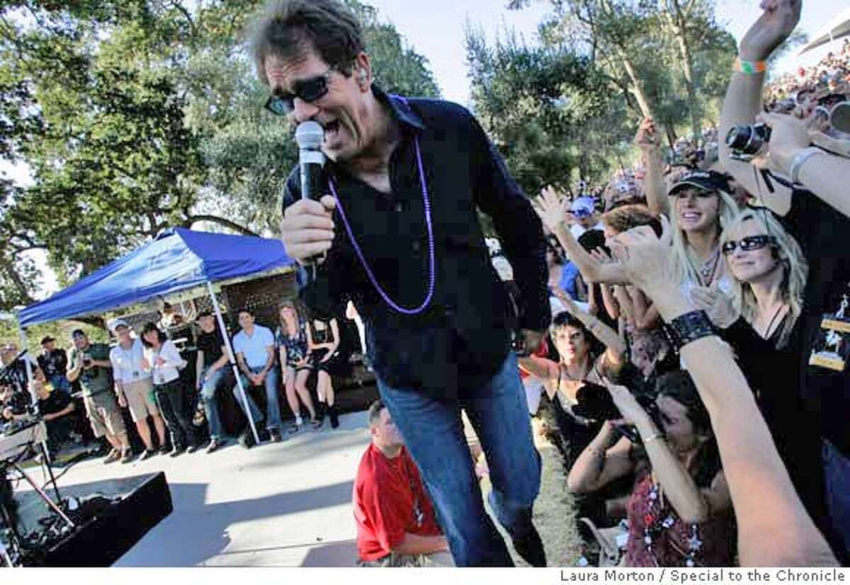 COHN01_0460_LKM.jpg Huey Lewis performs for excited fans during the B.R. Cohn Winery Fall Music Festival at the B.R. Cohn Winery Amphitheater on Saturday afternoon. (Laura Morton/Special to the Chronicle)