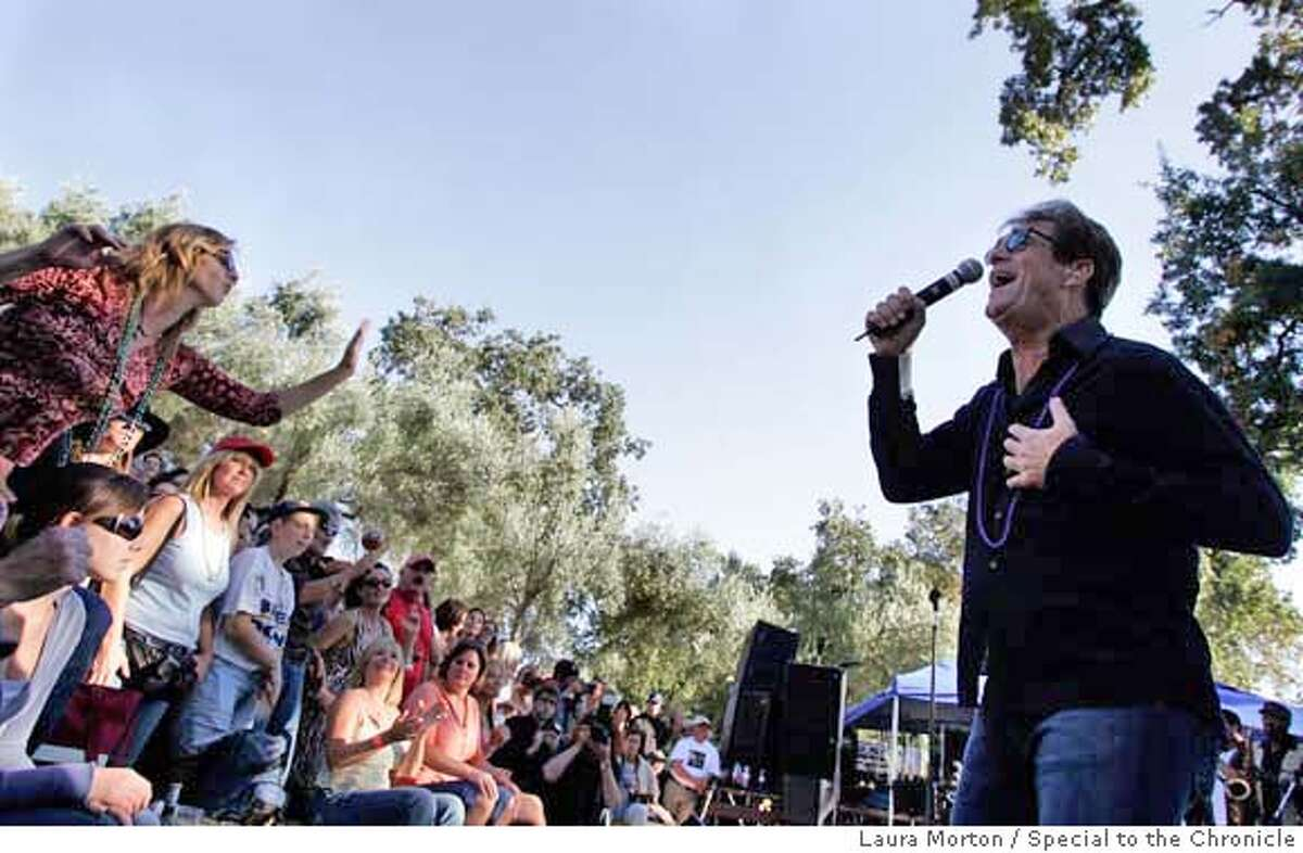 COHN01_0479_LKM.jpg Huey Lewis performs for excited fans during the B.R. Cohn Winery Fall Music Festival at the B.R. Cohn Winery Amphitheater on Saturday afternoon. (Laura Morton/Special to the Chronicle)
