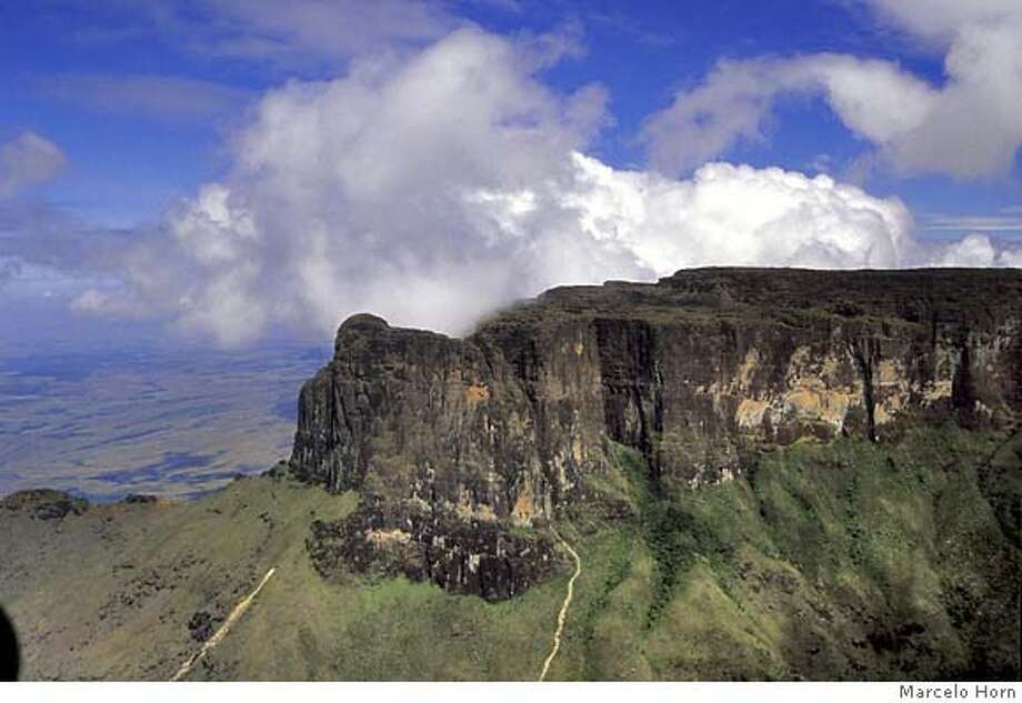 "TRAVEL FICTIONAL -- Monte Roraima, inspiration for ""The Lost World,"" is located near the Venezuela-Guyana border. Photo: Marcelo Horn"