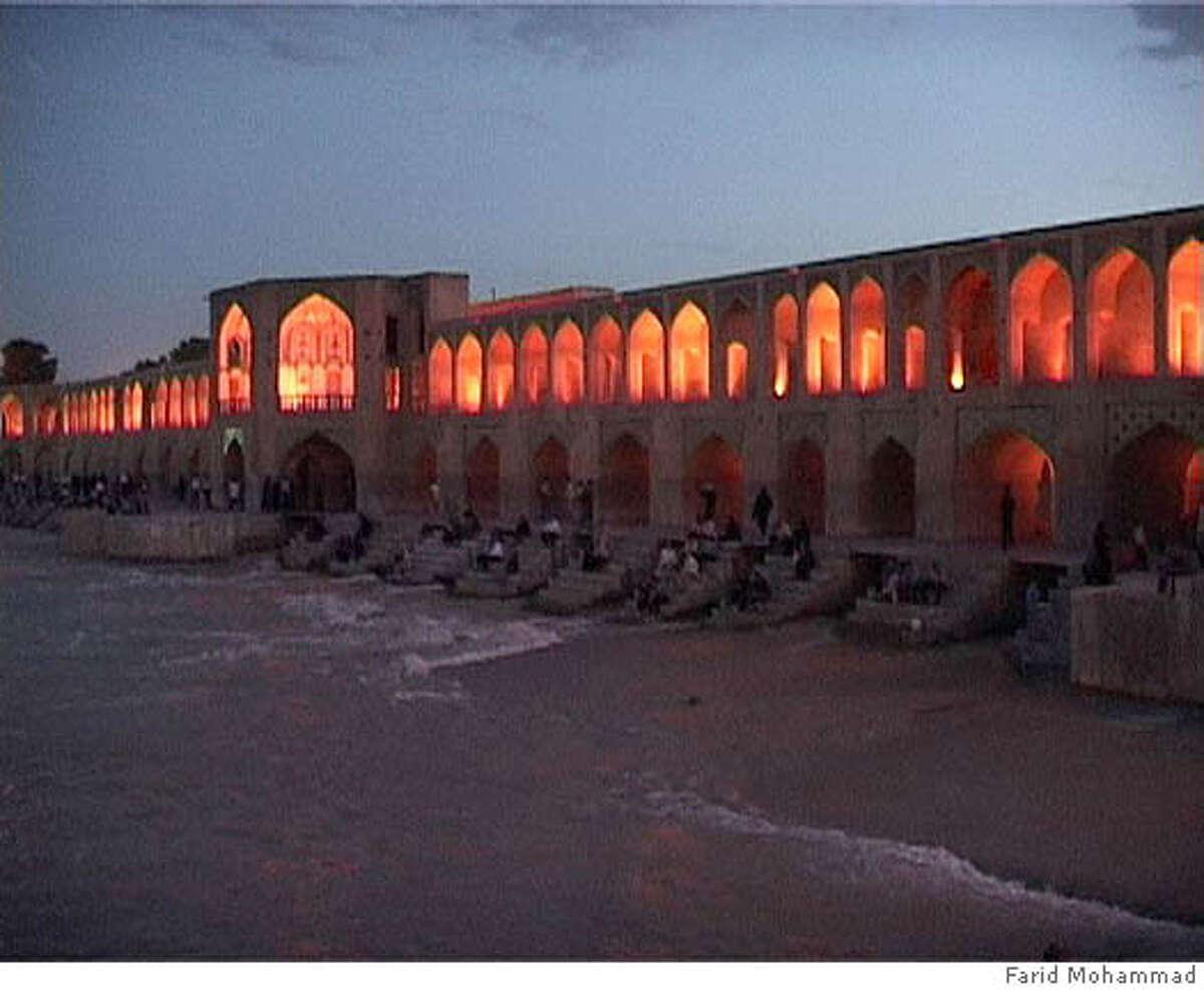 The Khajou Bridge in Isfahan, Iran. Photo by Farid Mohammad