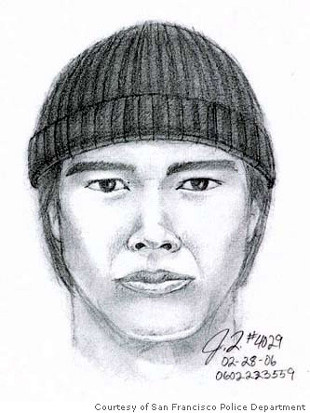 Police sketch of the suspected killer of Allen Leung.