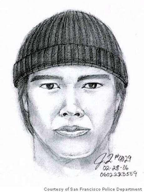 Police sketch of the suspected killer ofAllen Leung. Photo: Courtesy Of San Francisco Polic