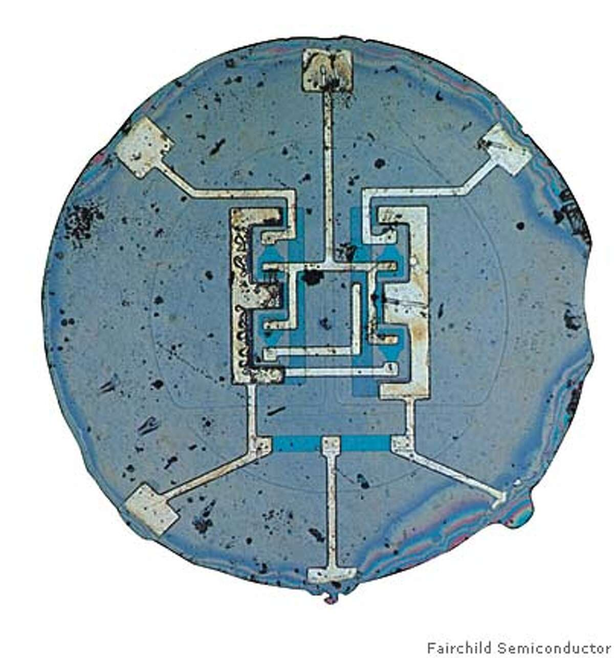 svhistory30_transistor This resistor-transistor logic (RTL) product--a set/reset flip-flop--was the industry's first integrated circuit available as a monolithic chip. Fairchild Semiconductor / Courtesy to The Chronicle