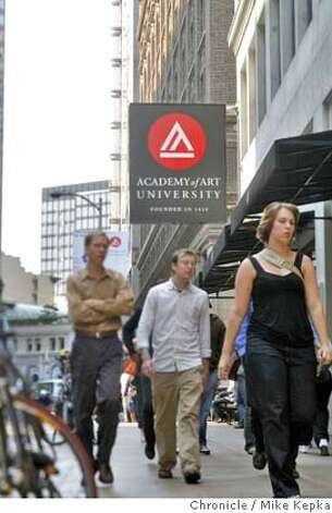 In this file photo, one of many signs blanketing New Montgomery in San Francisco, Calif. is proof that the Academy of Art University has become a huge growing part of San Francisco Culture. Photo: Mike Kepka