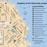 Academy of Art University properties in San Francisco. Chronicle Graphic