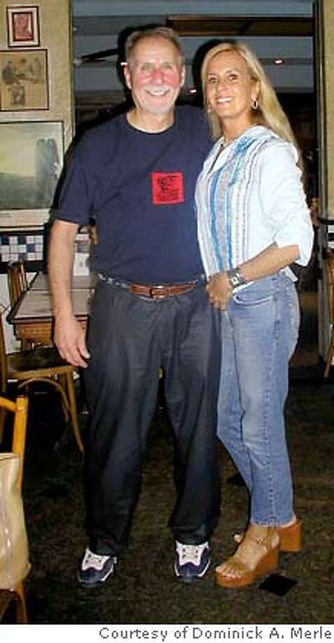 TRAVEL IPANEMA -- The author with Heloisa Eneida Menezes Paes Pinto, the real-life girl from Ipanema, in Rio. -- Photo courtesy Dominick A. Merle Photo: Courtesy Dominick A. Merle