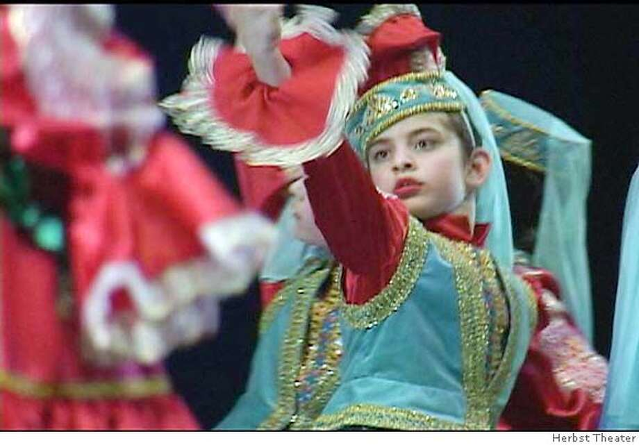 Dancing Across Cultures exhibit at Herbst Theater April 9-May 6. DANCE OF THE TARTARS, Central Steppes of Asia. Costume by Svetlana Semyonova of the Mariinsky Theatre, Saint Petersburg, Russia. Photo: Handout