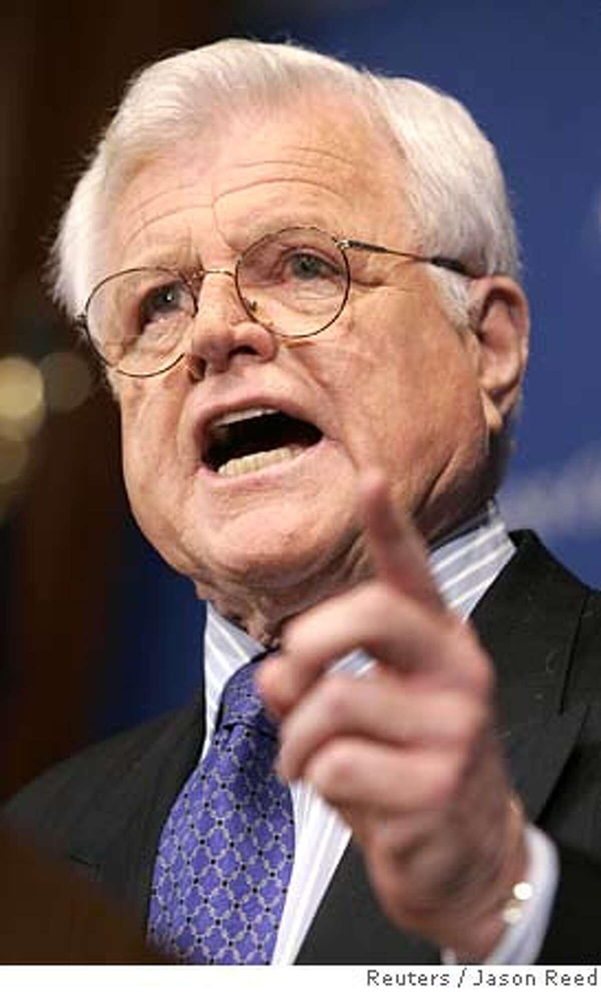 Senator Ted Kennedy speaks at a Press Club Luncheon in Washington