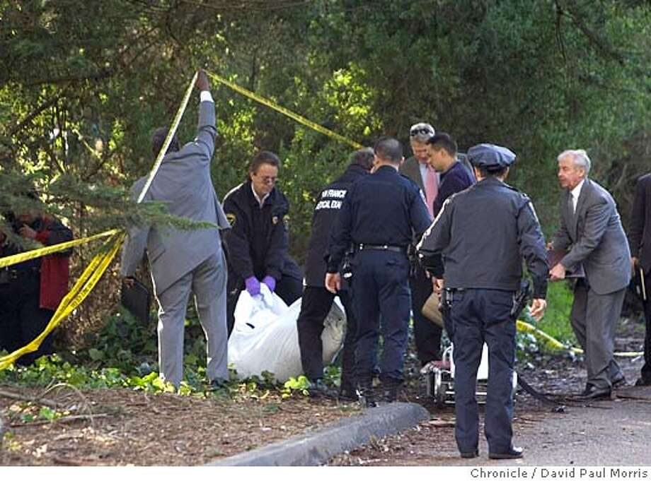 POLICE REMOVE A BODY FROM STOW LAKE AREA, GOLDEN GATE PARK Photo: David Paul Morris