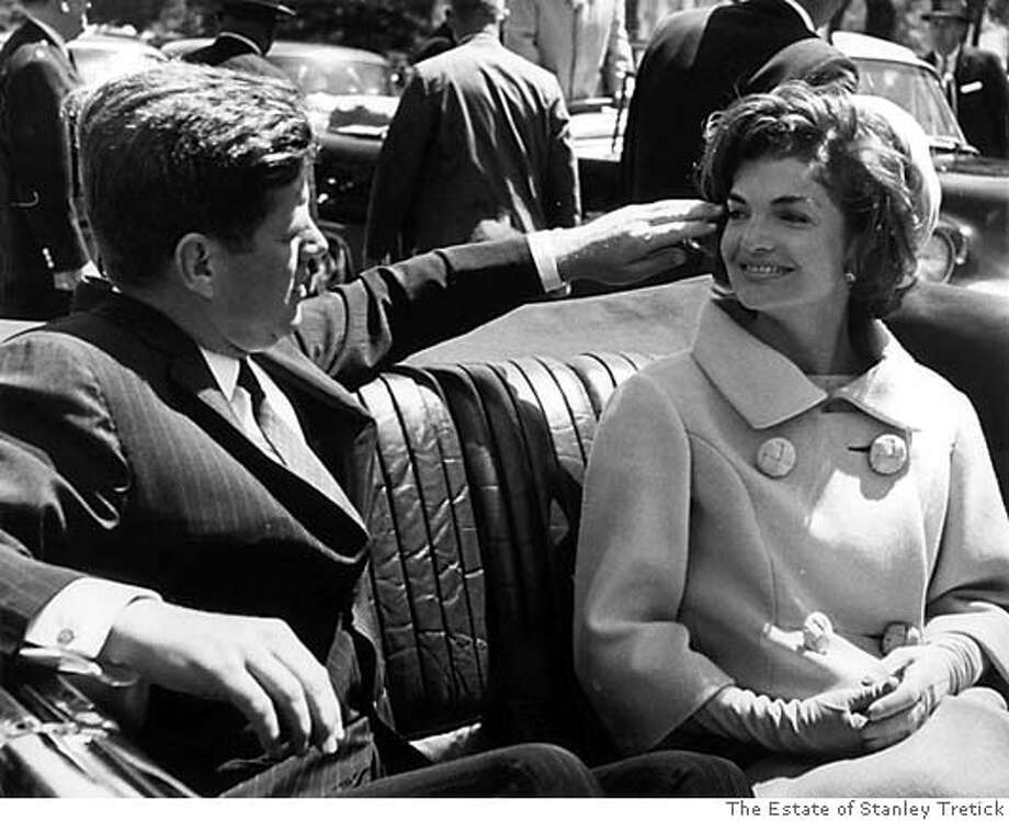 The President twirling Mrs. John F. Kennedy's hair during a trip from the Blair House to the White House. Washington, DC. May 3, 1961 Silver Gelatin Print, 20 x 16 in. (c) The Estate of Stanley Tretick Photo: The Estate Of Stanley Tretick