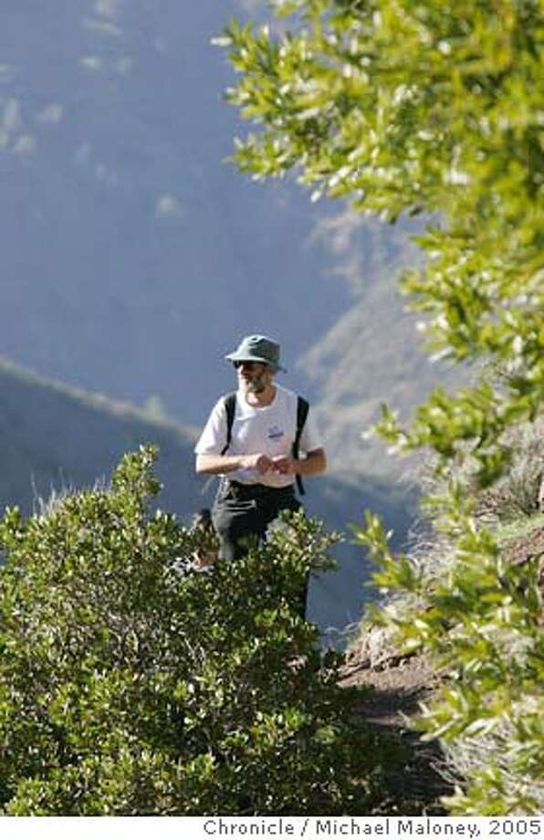 Bob Solotar is a Green Belt Alliance volunteer who leads many hikes for the organization and lead us on a shortened version of the Mt Diablo waterfall hike. Greenbelt Alliance, which is devoted to land conservation and urban planning is leading a hike of the Hidden Waterfalls of Mt. Diablo including a climb up Eagle Peak. Steve Bakaley of Greenbelt Alliance will be leading the strenuous, nine-mile hike with almost 3,000 feet of elevation gain on February 12. Photo by Michael Maloney / San Francisco Chronicle Photo: Michael Maloney