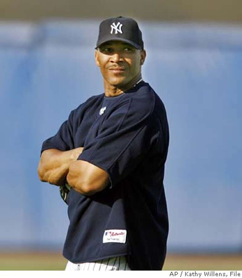 New York Yankees right fielder Gary Sheffield stands in the outfield before the Yankees spring baseball game against the Boston Red Sox, Wednesday, March 22, 2006, at Legends Field in Tampa, Fla. (AP Photo/Kathy Willens) Photo: KATHY WILLENS