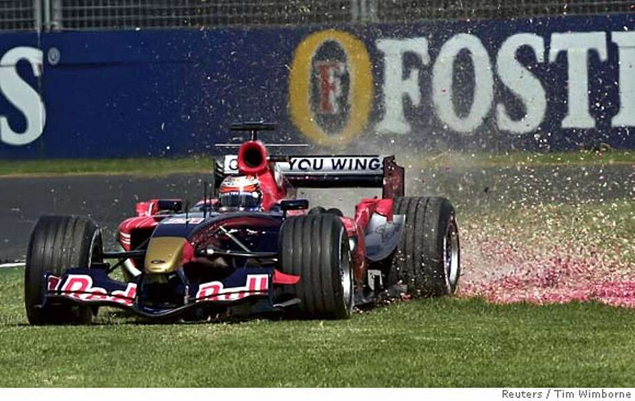 Toro Rosso Formula One driver Speed of the US drives wide through a gravel trap in Melbourne Photo: TIM WIMBORNE