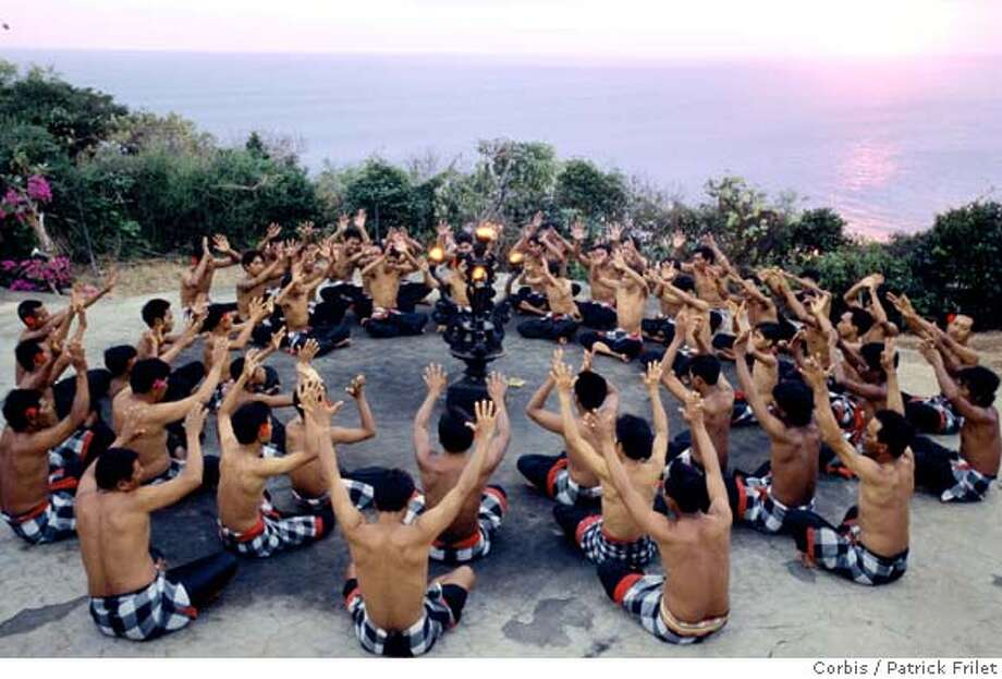 Bali, Indonesia --- Men Performing the Monkey Dance (Kecak) --- Image by � Patrick Frilet/Hemis/Corbis Photo: Patrick Frilet