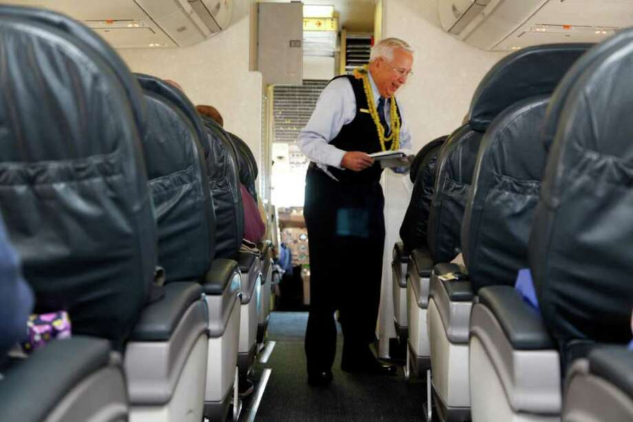 2. United, 21 percent. United, which started out as part of Boeing, was voted second-rudest airline despite the efforts of flight attendant Ron Akana, who retired in August after a 63-year career. Photo: JAMIE SCHWABEROW / NYTNS
