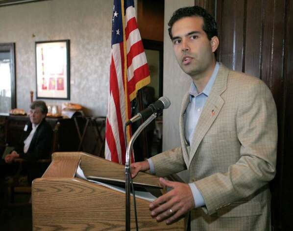 George P. Bush, nephew of President Bush, speaks at the Fort Worth Republican Women's Christmas Party at the Petroleum Club on Wednesday, Dec. 6, 2006. Photo: JOYCE MARSHALL, ASSOCIATED PRESS / AP2006