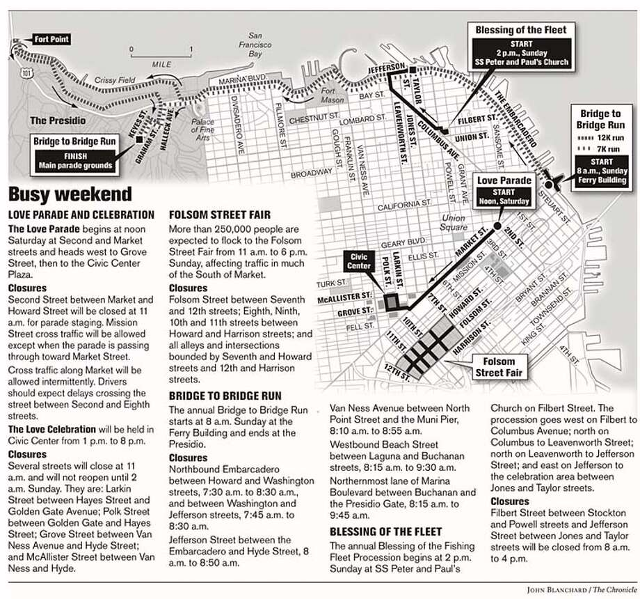 Busy Weekend. Chronicle graphic by John Blanchard