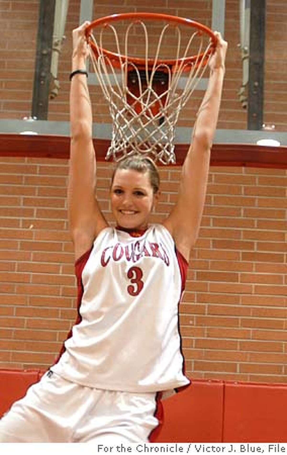 Sports Metro girls basketball Player of the Year Jayne Appel, a senior at Carondelet High, poses for a portrait in Carondelet's gym in Concord California, Friday March 24, 2006. Appel is McDonald's All American headed to Stanford. Photo/ Victor J. Blue, The Chronicle.