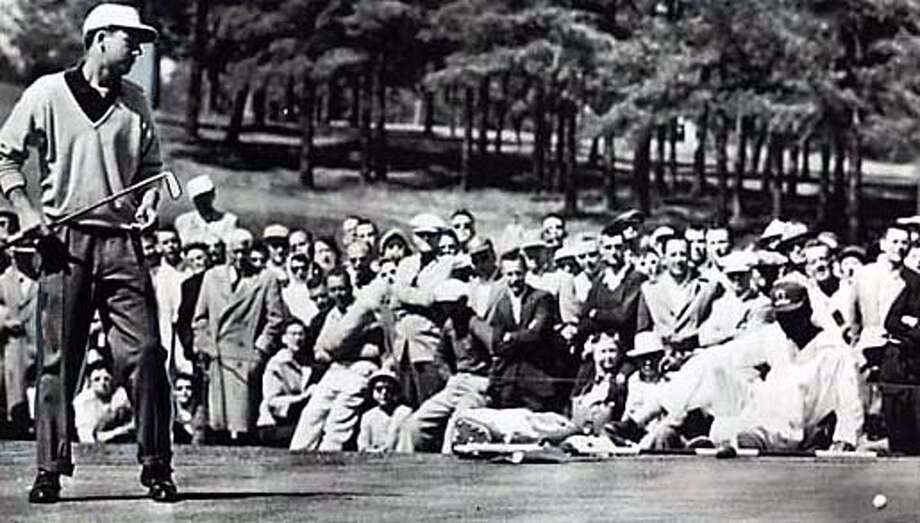 Ken Venturi at the 1956 Masters golf tournament in Augusta, Ga. He lost by a single stroke. Associated Press File Photo