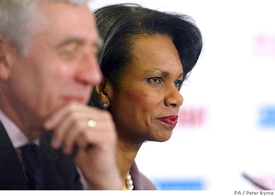JACK STRAW, CONDOLEEZZA RICE Photo: PETER BYRNE