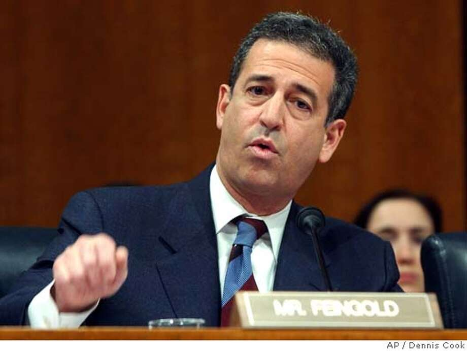 Senator Russ Feingold, D-Wis., speaks in support of his resolution to censure President Bush for the administration's electronic surveillance program. (AP Photo/Dennis Cook) Photo: DENNIS COOK