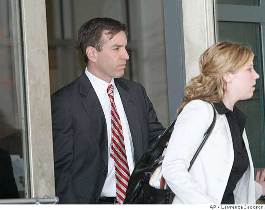 Tony Rudy, a former deputy chief of staff to Rep. Tom Delay, leaves Federal Court in Washington, Friday, March 31, 2006. after pleading guilty to conspiracy and promised to cooperate with the governments investigation of lobby fraud. (AP Photo/Lawrence Jackson) Photo: LAWRENCE JACKSON