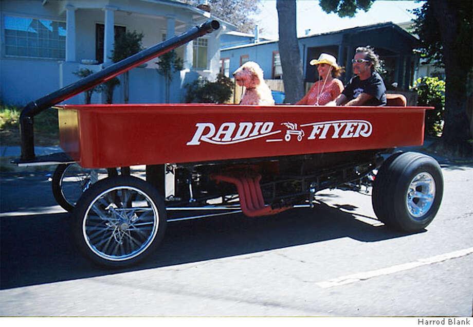 the Radio Flier art car by Bob Castaneda Photo: Harrod Blank