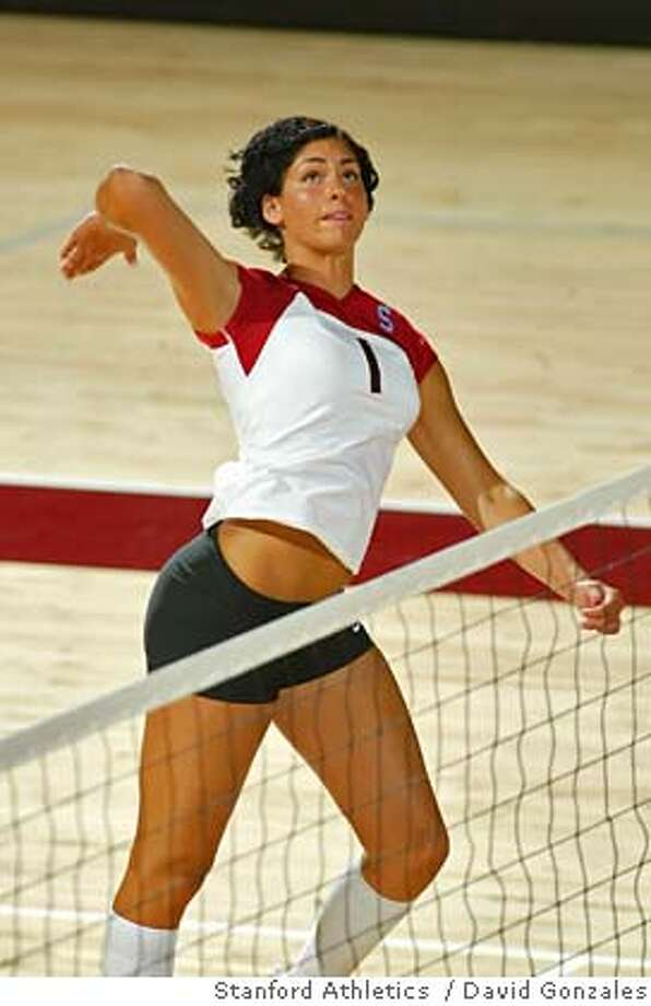 Cynthia Barboza, Stanford volleyball, 2005. Photo by David Gonzales/Stanford athletics Ran on: 08-30-2005  here.  ALSO Ran on: 08-20-2006  Stanford sophomore Cynthia Barboza came to The Farm with Olympic credentials and was one of the nation's top collegians when a knee injury ended her season last October.  Ran on: 08-20-2006  Stanford sophomore Cynthia Barboza came to The Farm with Olympic credentials and was one of the nation's top collegians when a knee injury ended her season last October. Photo: David Gonzales/Stanford Athletic