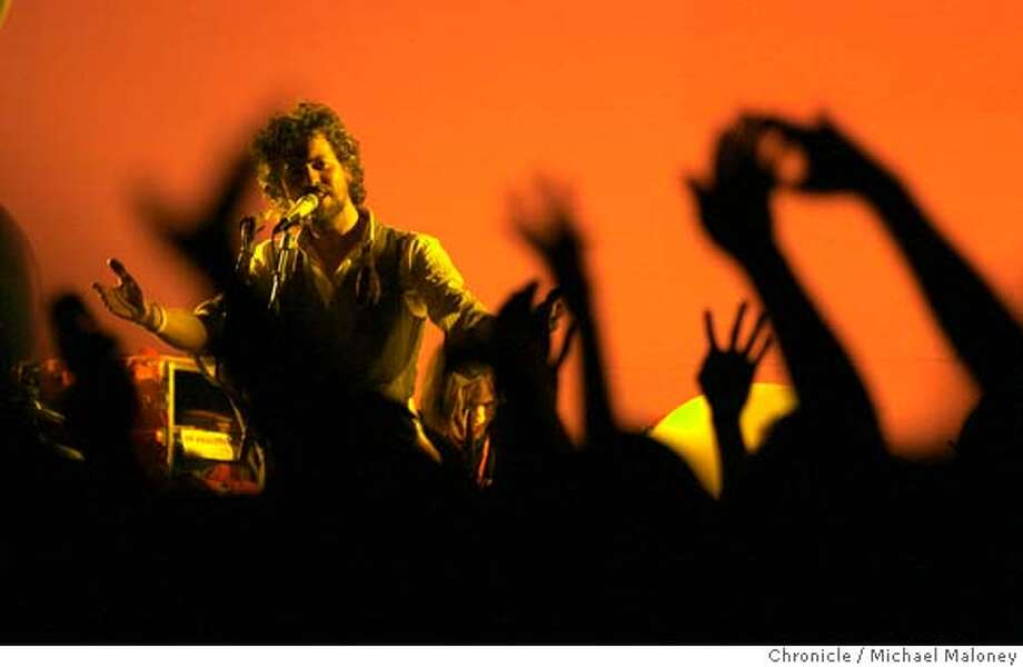 .jpg  Lead singer Wayne Coyne  The Flaming Lips band kicks off the Noise Pop festival with a show at Bimbo's.  The Flaming Lips have completed work on their upcoming album 'At War With The Mystics' and the album has been scheduled for an April 3rd release date.  Photo by Michael Maloney / San Francisco Chronicle on 3/27/06 in San Francisco,CA Photo: Michael Maloney