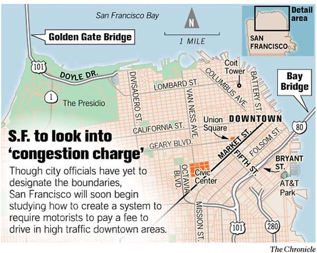 S.F. to Look Into 'Congestion Charge.' Chronicle Graphic