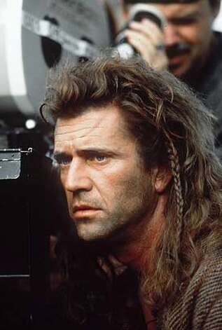 MEL GIBSON DIRECTING BRAVEHEART CAT Photo: Ho