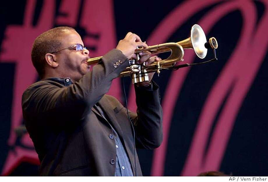 Terence Blanchard, Artist-In-Residence with the Monterey Jazz Festival Next Generation Orchestra, perfroms on the Jimmy Lyons Stage at the Monterey Fairgrounds on Sunday, Sept. 23, 2007, during the 50th annual Monterey Jazz Festival in Monterey, Calif. (AP Photo/Monterey County Herald, Vern Fisher) Photo: Vern Fisher