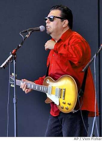 Cesar Rosas of Los Lobos performs Saturday, Sept. 22, 2007, during the 50th annual Monterey Jazz Festival in Monterey, Calif. (AP Photo/Monterey County Herald, Vern Fisher) Photo: Vern Fisher
