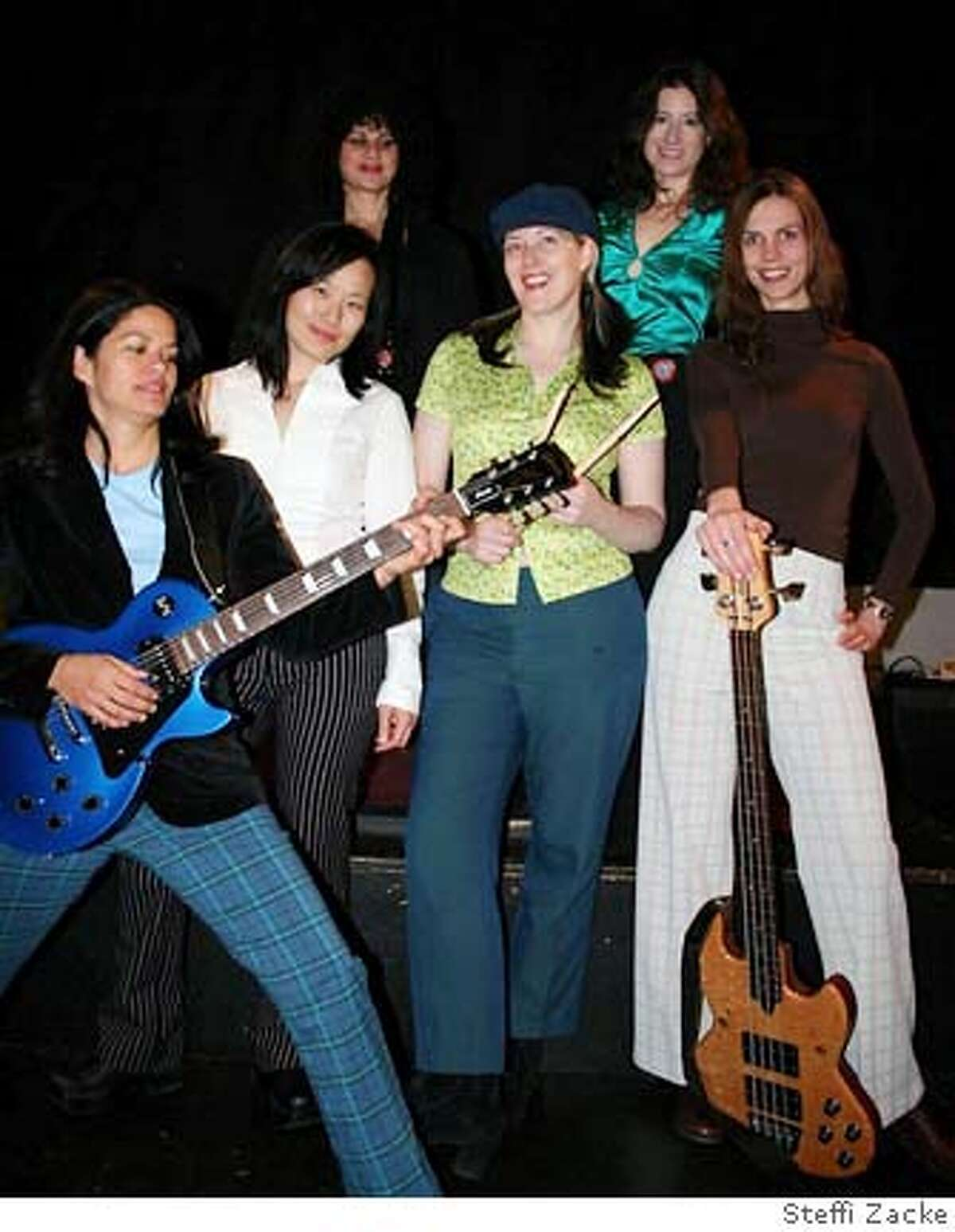 Band is called the Minks. Photo credit: Steffi ZackeRan on: 03-23-2006 From left, Pia DeSouza, Aileen Yoo, Nancy Magnelli, Marie Drennan, Jennifer Michalski, Freia Spillman.Ran on: 03-23-2006 From left, Pia DeSouza, Aileen Yoo, Nancy Magnelli, Marie Drennan, Jennifer Michalski, Freia Spillman.Ran on: 03-23-2006 From left, Pia DeSouza, Aileen Yoo, Nancy Magnelli, Marie Drennan, Jennifer Michalski, Freia Spillman.