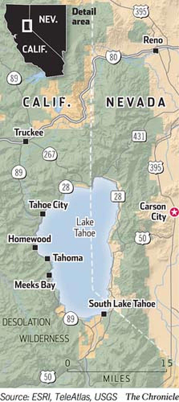 Lake Tahoe. Chronicle Graphic