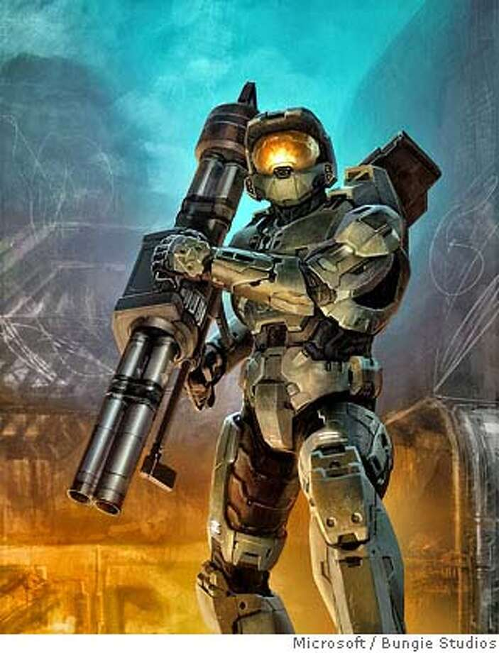(NYT8) UNDATED -- September 23, 2007 -- A scene from Halo 3. Hoping to make entertainment history, Microsoft plans to release Halo 3, the latest video game in its hit Halo franchise on Tuesday. The Halo series has sold more than 14.8 million copies since its debut in 2001, making it one of the most successful game franchises. The last major game in the series, Halo 2, set a record in 2004 for first-day sales of any entertainment product, generating more than $125 million in the United States in its first 24 hours. (Bungie Studios/The New York Times) Photo: Bungie Studios