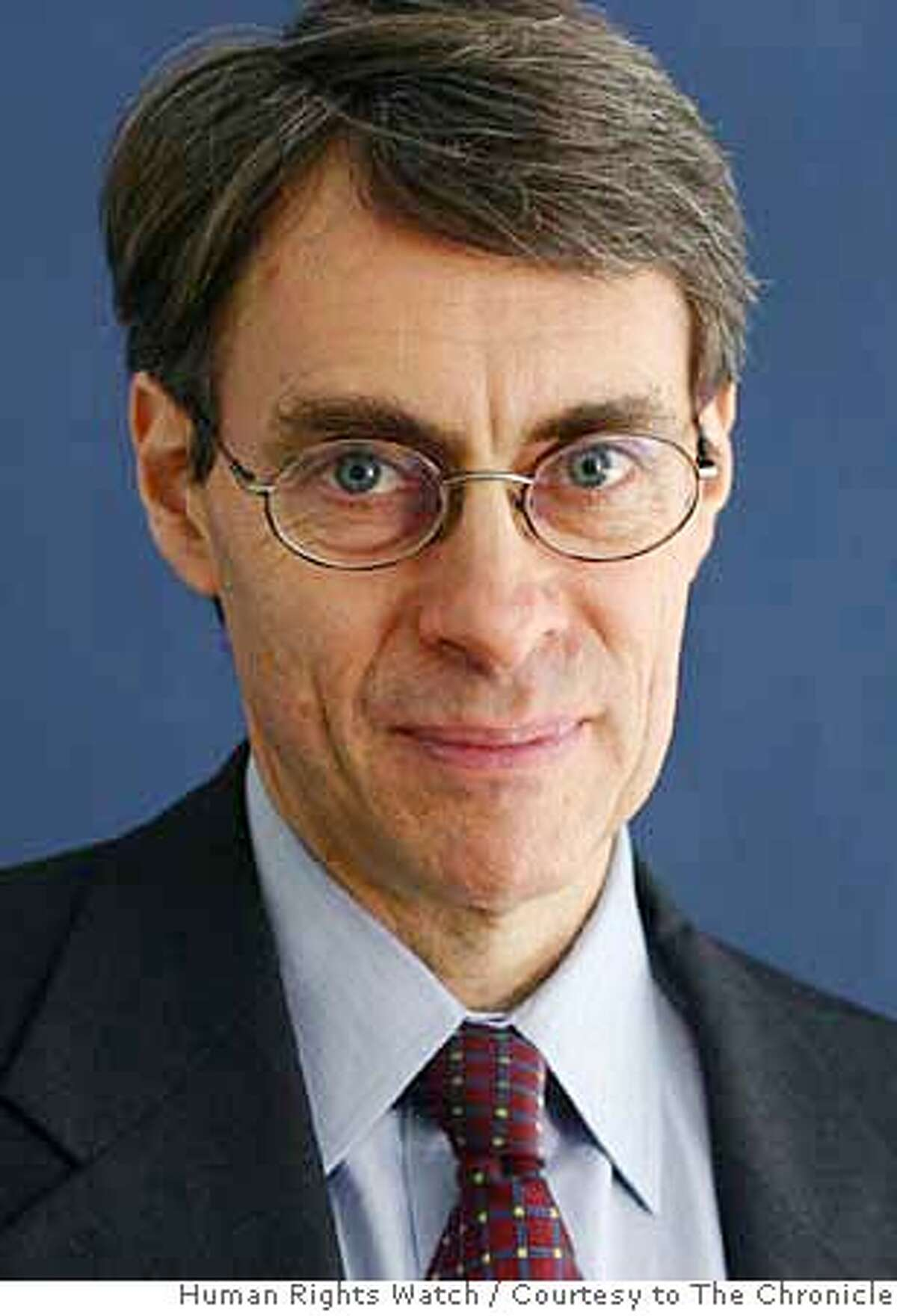 Executive director of Human Rights Watch, Kenneth Roth in this undated picture. Human Rights Watch / Courtesy to The Chronicle MANDATORY CREDIT FOR PHOTOG AND SAN FRANCISCO CHRONICLE/NO SALES-MAGS OUT