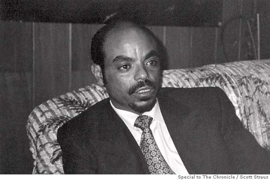 ZEBAW/B/11MAY98/MN/HO = Ethiopian President Meles Zenawi denied during an interview that his government has quashed dissent. PHOTOS BY SCOTT STRAUS/ . ALSO RAN 5/24/2000 CAT Photo: SCOTT STRAUS